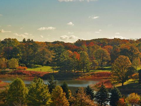 Le Round Meadow Lake aux couleurs de l'automne