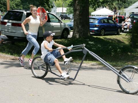 Une bicyclette faite sur mesure dans le cadre du Louisiana Bicycle Festival d'Abita Springs