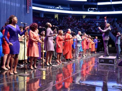 Chorale de gospel au McDonald's Gospelfest