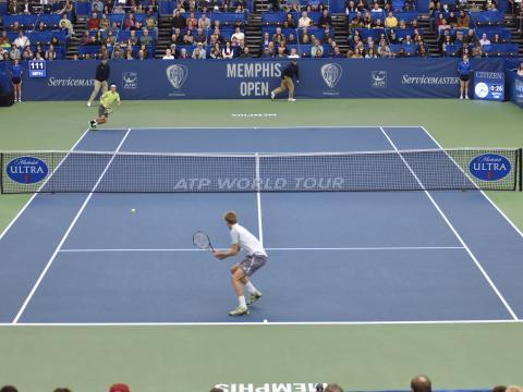 Une partie captivante du Memphis Open Tennis Tournament