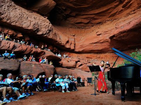 Amphithéâtre naturel au Moab Music Festival