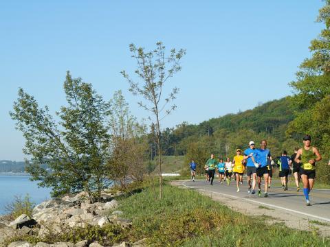 L'itinéraire pittoresque du marathon de Bayshore