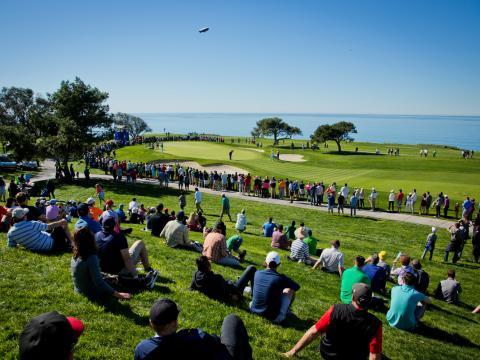 Un cadre idyllique à l'occasion du tournoi de golf Farmers Insurance Open