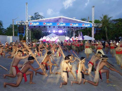 Artistes lors de la Guam Micronesia Island Fair