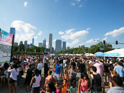 L'une des nombreuses prestations du festival des musiques du monde de Chicago